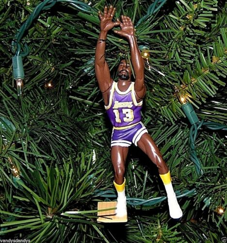 wilt CHAMBERLAIN los ANGELES lakers basketball NBA xmas ornament HOLIDAY jersey