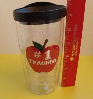 Tervis-16 oz  # 1 Teacher Tumbler With Sipper Lid Excellent Condition