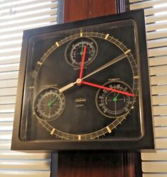 Vintage Sunbeam 10 Weather Wall Clock Thermometer Barometer Humidity WORKS VGC