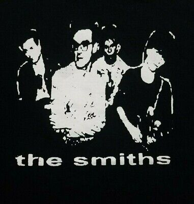 The Smiths band **LARGE*** screen printed t-shirt Black retro Classic Screen Print Jersey