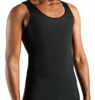 Compression Shirt Gynecomastia Vest for moobs Med blk