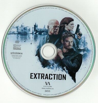 Extraction  Dvd Disc  Bruce Willis  Kellan Lutz  Gina Carano