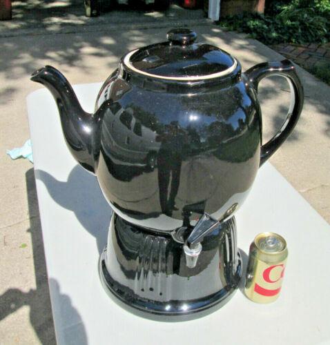 HALL CHINA TEA DISPENSER Restaurant Teapot,  LARGE SIZE, BLACK, NEW, NEVER USED!