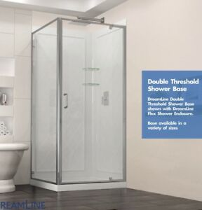 6c3c14ac2bb Dreamline Shower base with glass side and doors