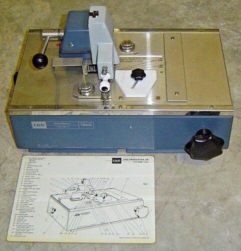 LKB 7801 B KnifeMaker 7801B Lab Microtome 7800 Glass Knife Maker