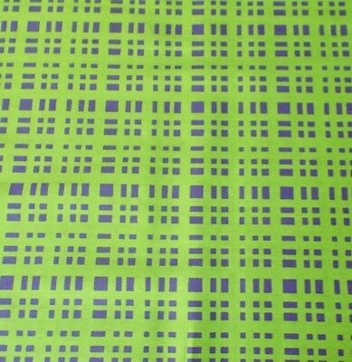 - Lime Green Purple Plaid Pattern Quilting Fabric Sewing By the Yard Fat Quarter