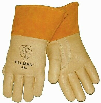 Genuine Tillman 42 Pigskin Welding Gloves Heavyweight Med Foam Lined Back Medium