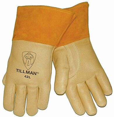Genuine Tillman 42 Pigskin Welding Gloves Heavyweight Med Lg Xl Foam Lined Back