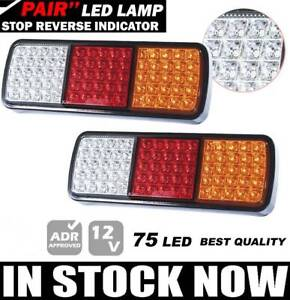 NEW! PAIR High Quality 75 LED Tail Lights submersible 12/24V $74