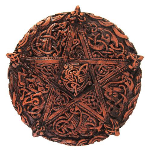 Small Celtic Knotwork Pentacle Plaque Dryad Design Wicca Wiccan Pagan Pentagram