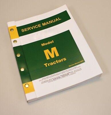 Service Manual For John Deere M Mi Series Tractor Repair Technical Workshop Shop
