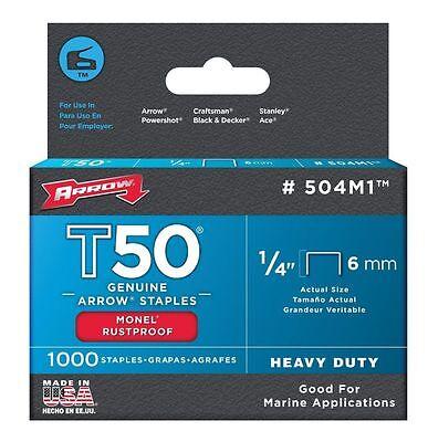Arrow 504M1 1/4in. T50 Monel Rust Proof Staples 1000/Box