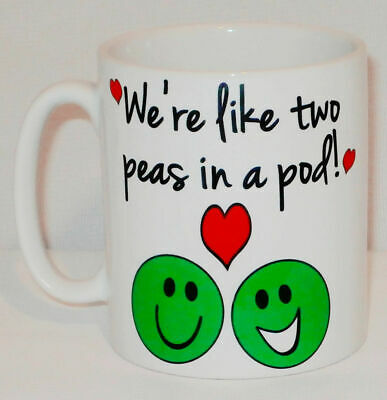 We're Like Two Peas In A Pod Mug Can Personalise Great Funny Love Partner (Were Like Two Peas In A Pod)