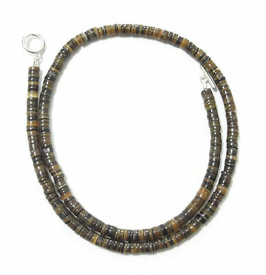 PEN NATURAL SHELL 19inch HEISHI BEAD 4-5mm NECKLACE 18303 jewelry 5 Mm Shell Necklaces