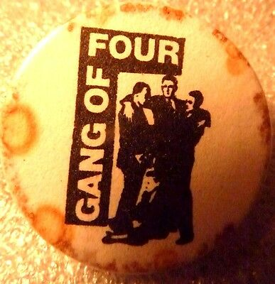 "GANG OF FOUR"", Vintage"" 1970's -1980's Button/Badge 1 """