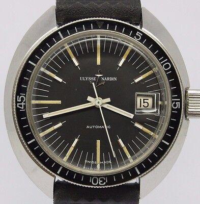 VINTAGE Ulysse Nardin 40mm Steel Mens Automatic Divers Watch Original RARE