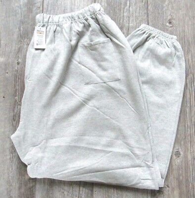NEW No Brand 6XL Sweatpants Elastic Waist w/Drawstring 75 Cot/25 Poly  Grey