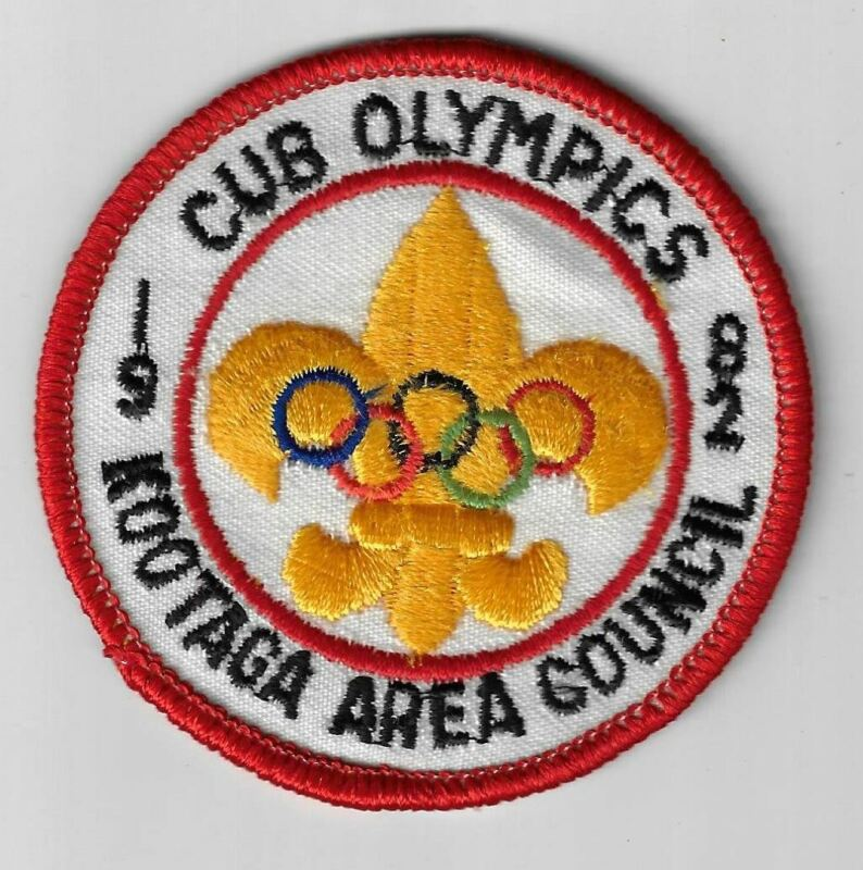 1982 Cub Olympics Kootaga Area Council RED Border [MX-4388]