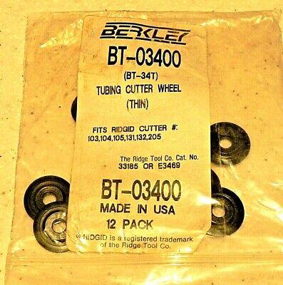 12 Berkley Bt-03400 Ridgid 33185 Or E3469 Replmt Thin Tubing Cutting Wheels