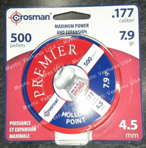 500ct Crosman Hollow Point 177 Caliber 7.9gr. 500 pellets Free USA Ship - LHP77