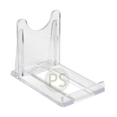 Small Adjustable/ Twist Clear Plastic Plate & Bowl Leeds Display Stand: 5cm, 2""