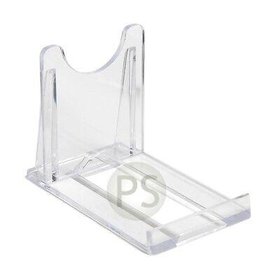 "Small Adjustable/ Twist Clear Plastic Plate & Bowl Leeds Display Stand: 5cm, 2"""