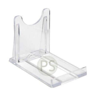 "5 x Blu Ray DVD / Steel Book Clear Plastic Display Stand: 5cm, 2"" NEW"