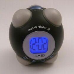 TIMEX SHAKE N WAKE WACKY WAKE-UP ALARM CLOCK INDIGLO (BLACK)