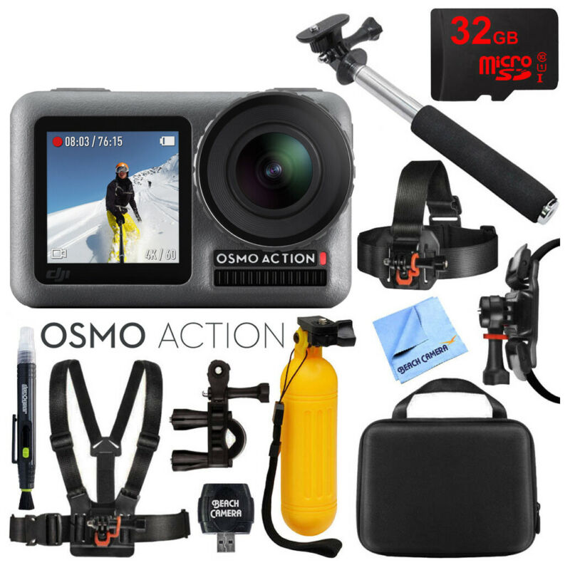 DJI Osmo Action Dual-Screen 4K HDR Waterproof Action Camera w/32GB Accessory Kit