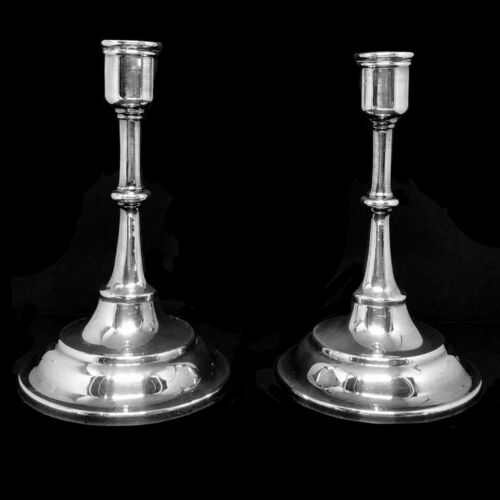"""Vintage Towle Pair Of Silverplate Candlesticks 6"""" Tall"""