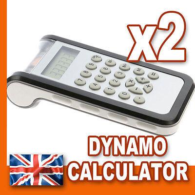 2 x Dynamo Calculator - 8 Digit Desktop Pocket - School Office Shop Wholesale