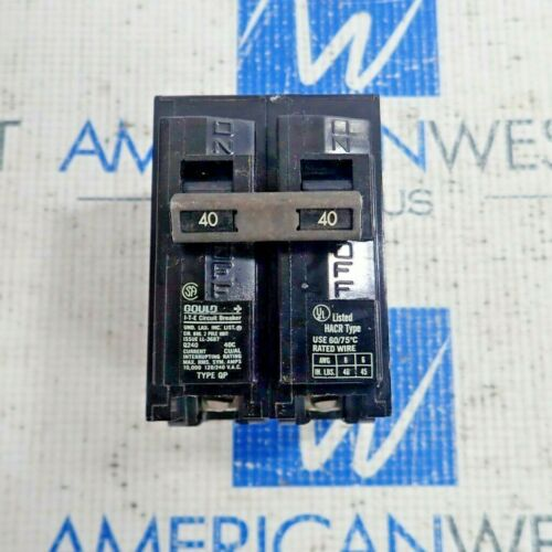 GOULD ITE Q240 TYPE QP 2 POLE CIRCUIT BREAKER 40A 120/240V  LOT OF 2