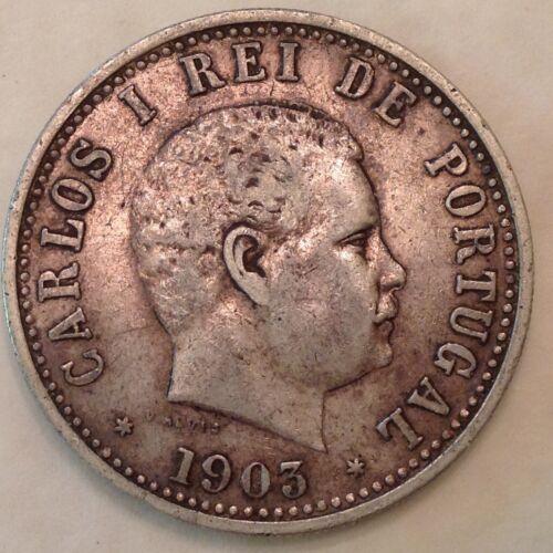 - 1903 Portuguese India One Silver Rupia / Rupee King Carlos I of Portugal -Sale
