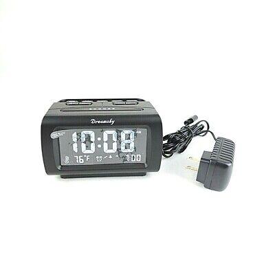 DreamSky Alarm Clock Radio with FM Radio, USB Port for Charging