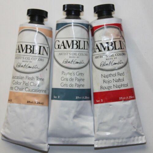 3 Gamblin Oil Paint