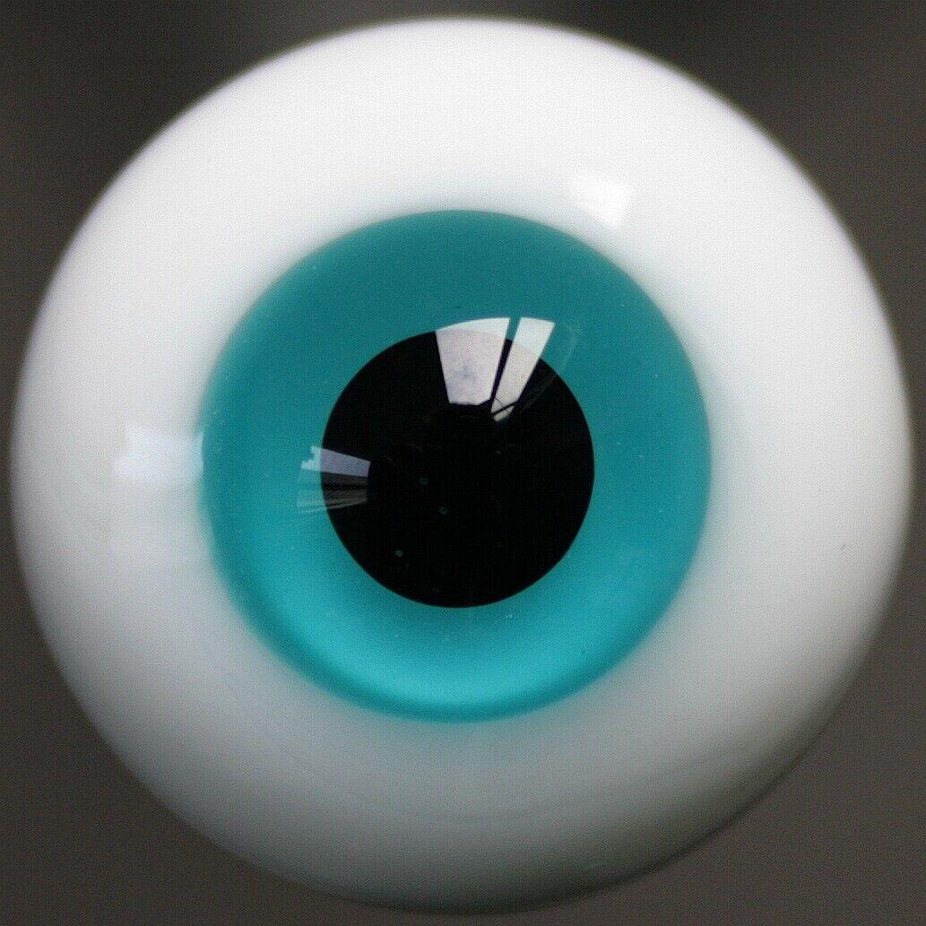 49#8mm Blue And Black Pupil For BJD AOD DOD Doll Dollfie Glass Eyes PF