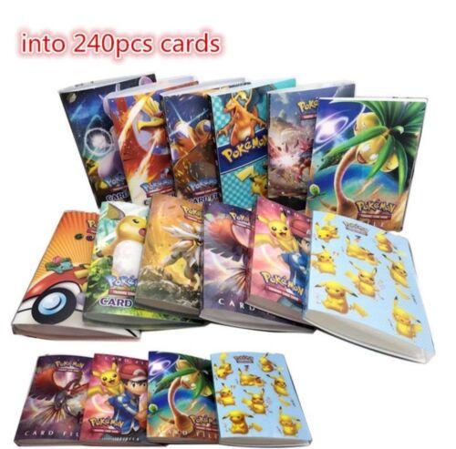 Pokemon Cards Album Book List Collector Folder 240Pcs Capacity Holder Portfolio