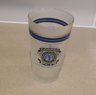 Copper Ale 2012 Pint Glass Law Enforcement Officer's Annual Tapping Frosted