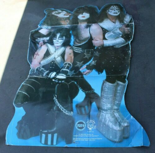 VINTAGE 1999 KISS BAND GENE SIMMONS CARDBOARD STANDEE CUTOUT POSTER PROMO 72x44""
