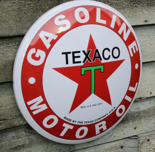 Licensed Texaco Gasoline Motor Oil Dome Metal Sign Nostalgic, Retro,17