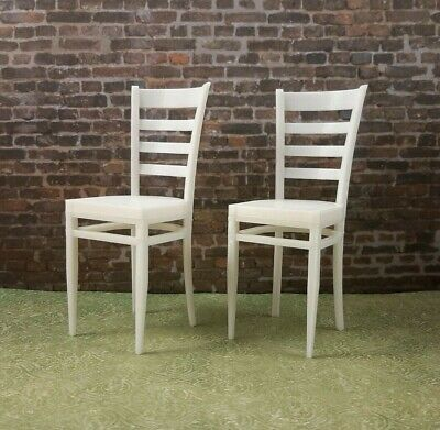 ☕BARBIE-sized 2 white CAFE CHAIRS furniture LIVING ROOM Dreamhouse FR IT 1/6 BJD