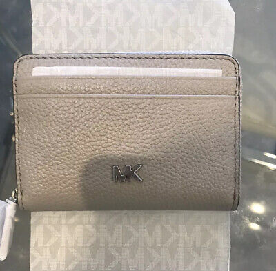 Michael Kors Money Pieces Zip Around Coin Card Purse Pearl Grey RRP£80