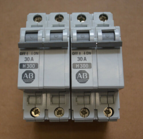 (2) Allen Bradley Circuit Breakers 1492-CB2 Series B 30A H300