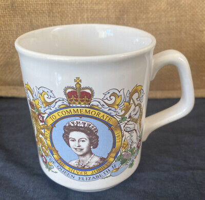 Vintage Queen Elizabeth II Cup Mug TAMS Silver Jubilee 1977 UK Royal Collectable