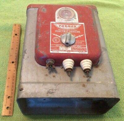 Antique Parmak Electric Fencer Charger Primitive Decor Salvage Collectible