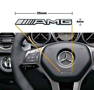 2 x Mercedes Benz AMG Sticker Lenkrademblem ALU Logo Schriftzug AMG Aufkleber