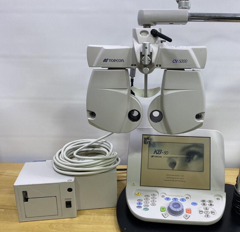 Topcon CV-5000 Digital Phoroptor with KB-50 Controller