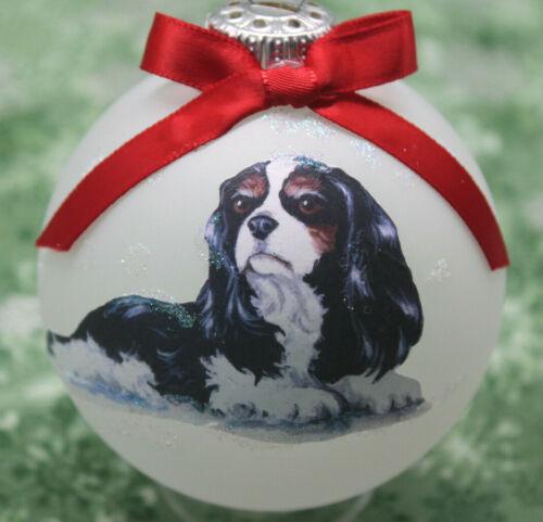 D053 Hand-made Christmas Ornament dog - Cavalier King Charles Spaniel - tri lay