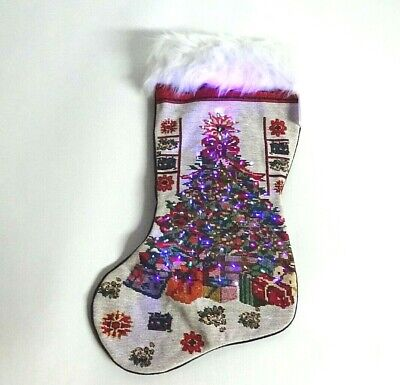 Arelux 19'' LED Christmas Hanging Stockings | Counted Cross Stitch Kit |Xmas Hol](Led Christmas Stockings)