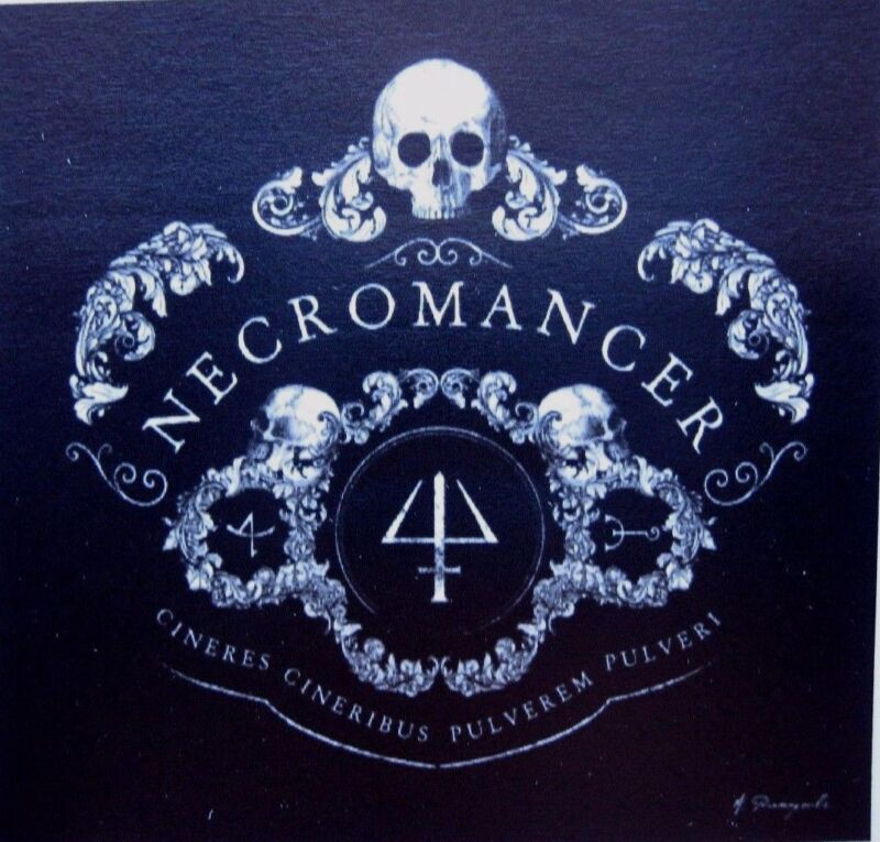 Necromancer Sticker/Decal Skull Mystical Black Magic Ashes To Ashes Dust To Dust